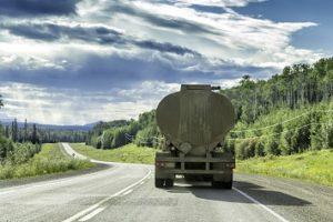 Truck trailer hazardous material road